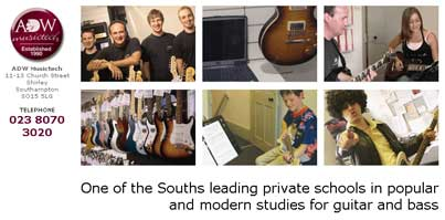 private school for guitar and bass